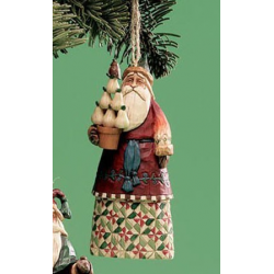 Santa Hanging Ornament With Pears