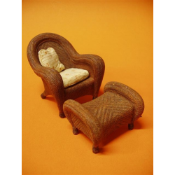 Wicker with Ottoman