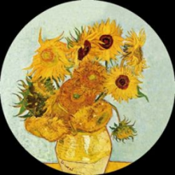 Vase with 12 sunflowers (1888)