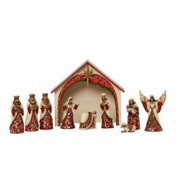 Ivory & Gold Mini Nativity