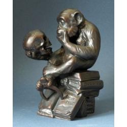 Affe mit Schädel ( 1892 - 93 )