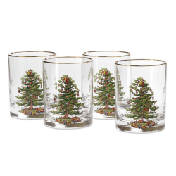 Tree Double Old Fashioned Tumbler S/4