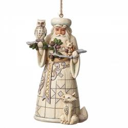 White Woodland Santa