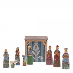 Folklore Nativity 9 piece set